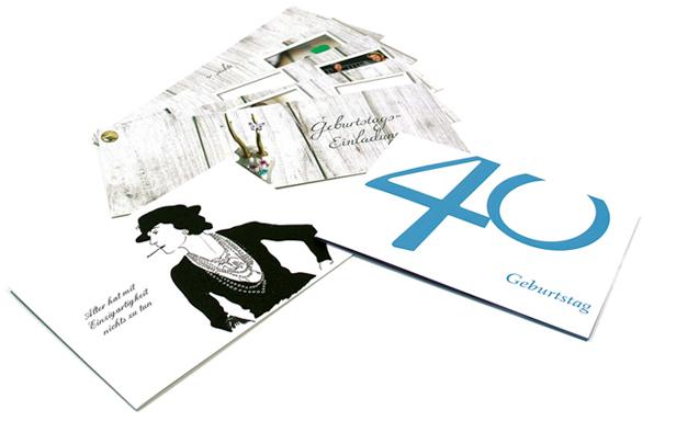 Einladungen zum 40. Geburtstag