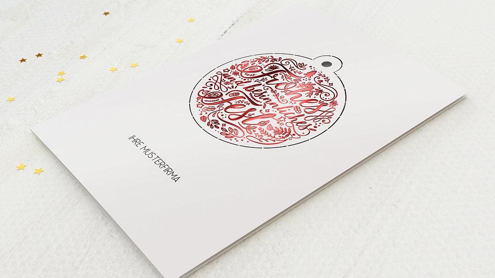 Weihnachtskarten Geschäftlich - Christbaumkugel