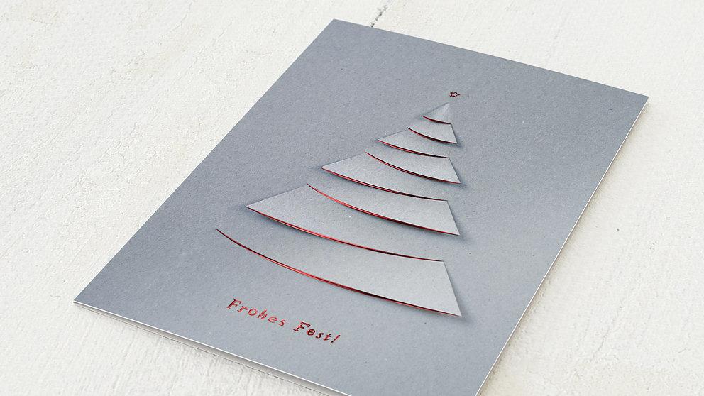 Weihnachtskarten Geschäftlich - Festliche Konturen