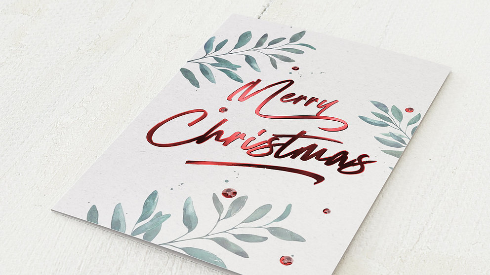 Weihnachtskarten Geschäftlich - Beeren & Zweige