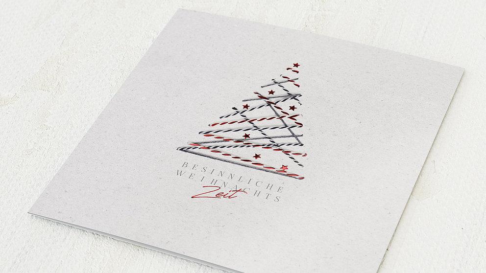 Weihnachtskarten Geschäftlich - Umgarnter Baum