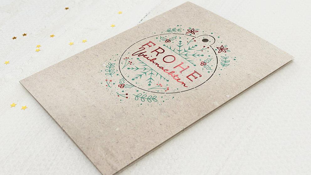 Weihnachtskarten Geschäftlich - Merry X-Mas