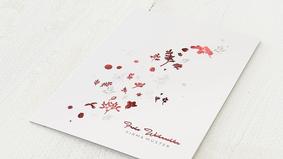 Weihnachtskarten Geschäftlich - Blätterflug