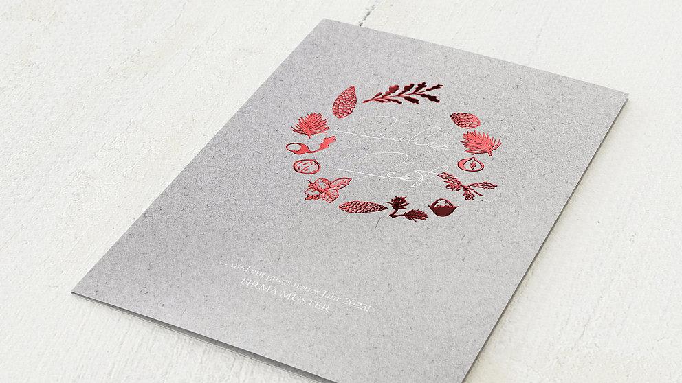 Weihnachtskarten Geschäftlich - Shiny Elegance