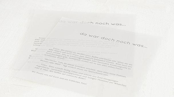 Einlegeblätter - Transparente Einlegeblätter Quadratisch