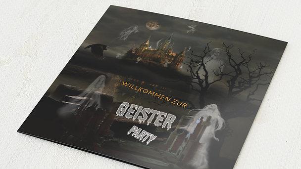 Einladungskarten Halloween - Schloss der Geister