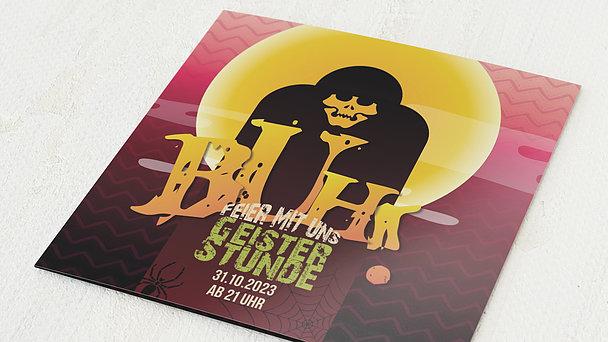 Einladungskarten Halloween - Buh!