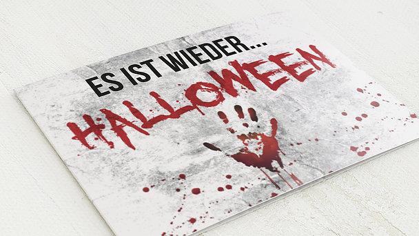 Einladungskarten Halloween - Blut