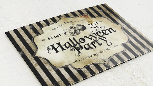 Einladungskarten Halloween - Fright Night