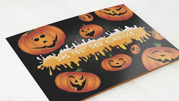 Einladungskarten Halloween - Lustige Kürbisse