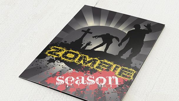 Einladungskarten Halloween - Dawn of the zombies