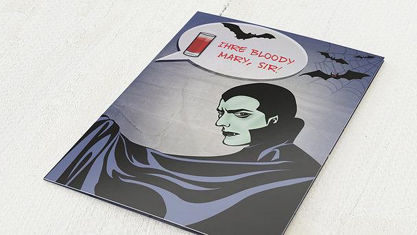 Einladungskarten Halloween - Dracula