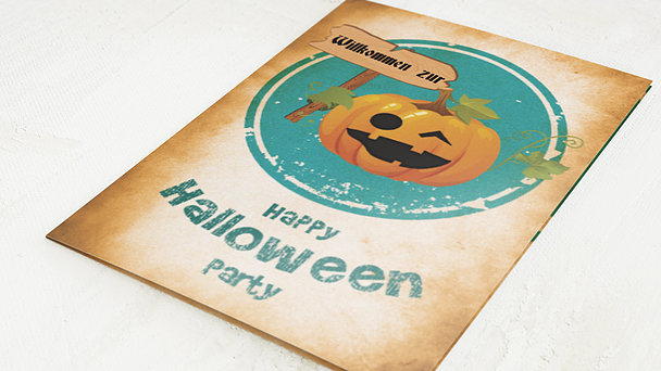 Einladungskarten Halloween - Kürbis-Party