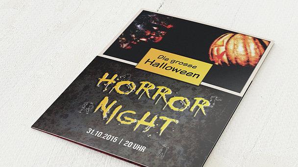 Einladungskarten Halloween - Horror Night