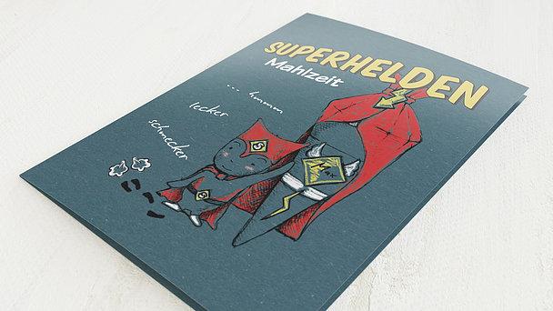 Menükarte Einschulung - Unser Superheld