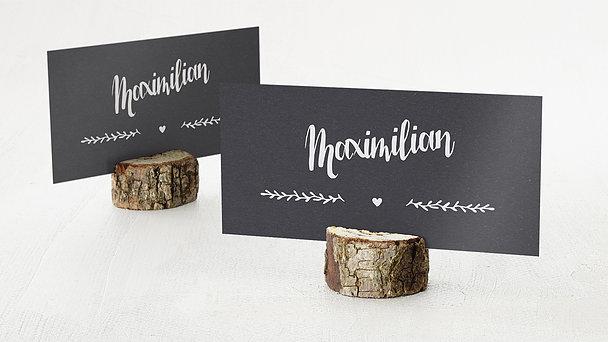 Tischkarte Einschulung - Kraftpapier