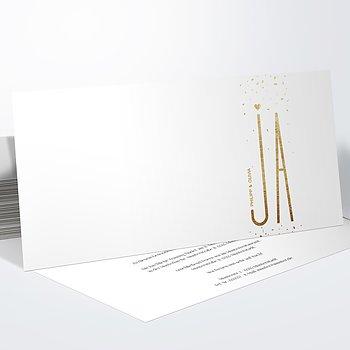 Hochzeitseinladung - Goldsturm