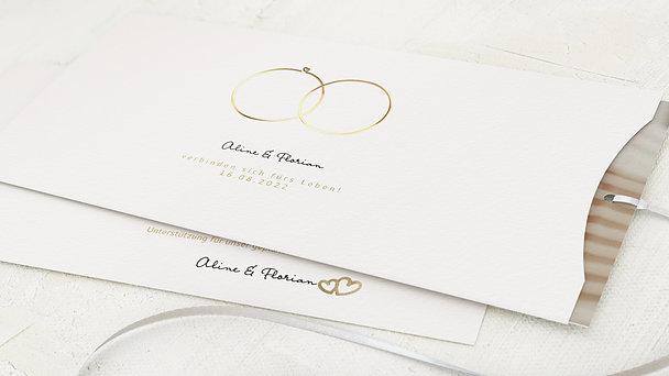Hochzeitseinladung - Zarte Ringe
