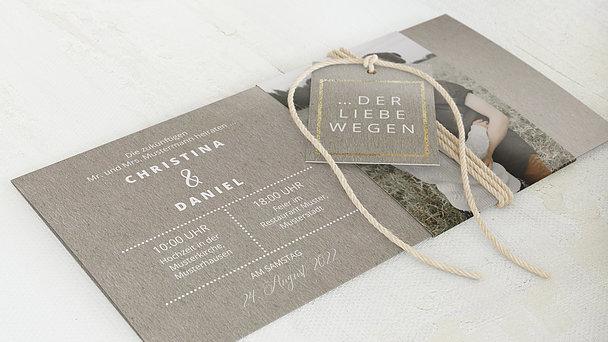 Hochzeitseinladung - Edelsamt
