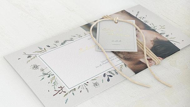 Hochzeitseinladung - Wiesenblume