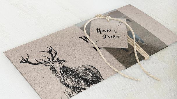 Hochzeitseinladung - Tierisch guad