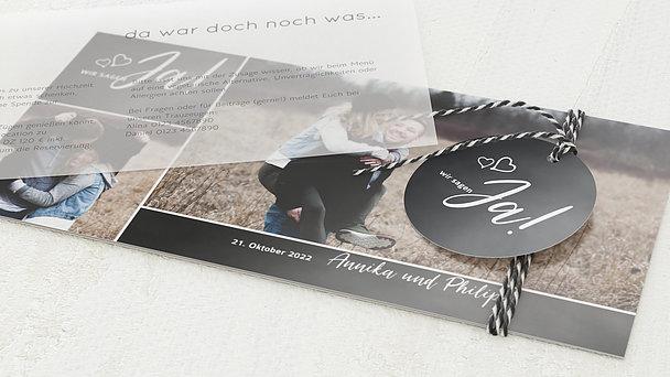 Hochzeitseinladung - Herz & Seele