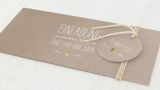 Hochzeitseinladung - Rustique
