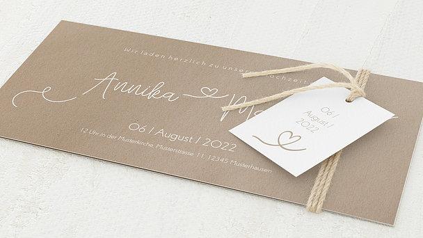 Hochzeitseinladung - Herzflug
