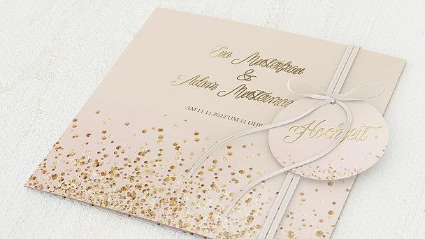 Hochzeitseinladung - Geflitter