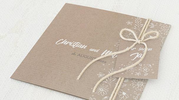 Hochzeitseinladung - Blumenstil