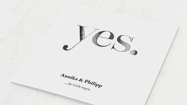Hochzeitseinladung - Yes, I will