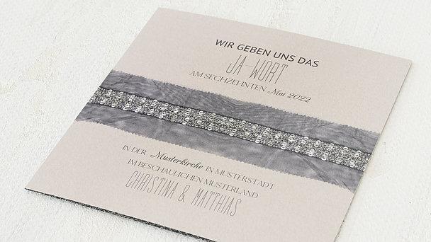 Hochzeitseinladung - Strumpfband