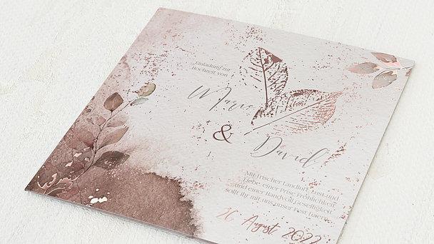Hochzeitseinladung - Elfenblätter