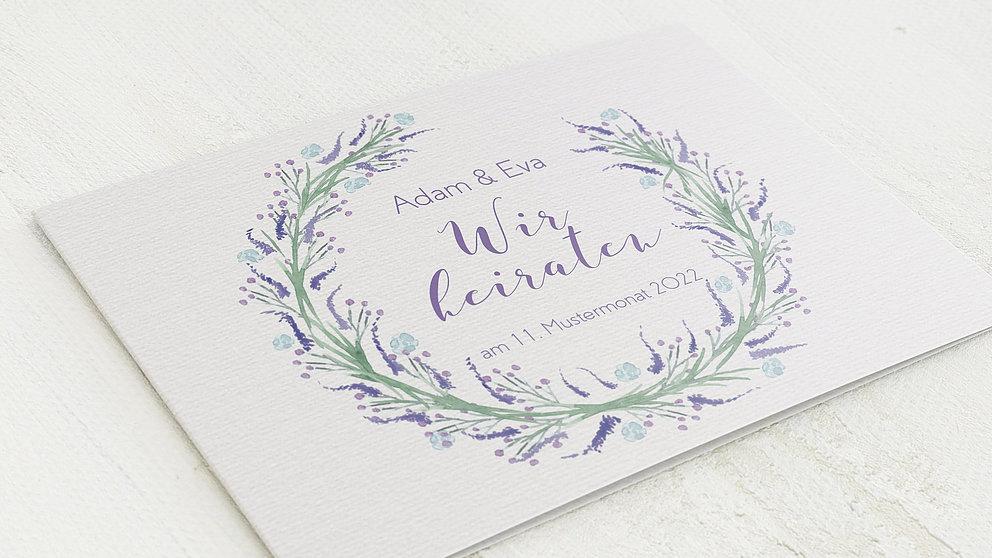 Hochzeitseinladung Lavendel