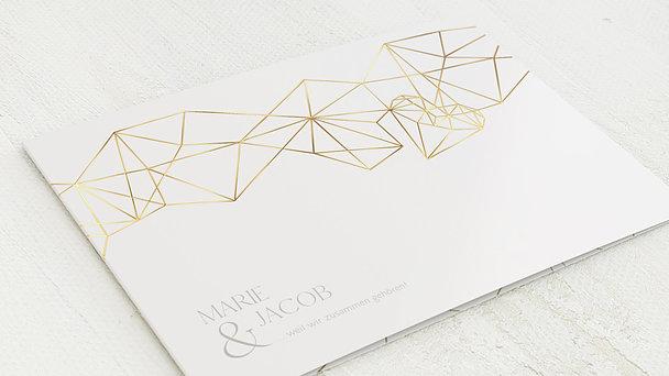 Hochzeitseinladung - Herz Diamant