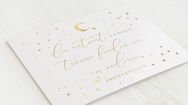 Hochzeitseinladung - Sternenzelt