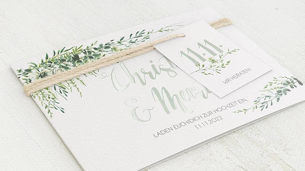 Hochzeitseinladung - Grüne Pracht
