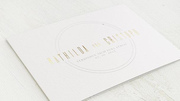 Hochzeitseinladung - Zirkular
