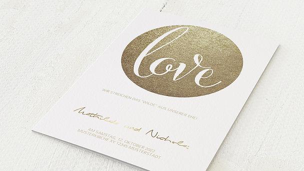 Hochzeitseinladung - Goldpanel