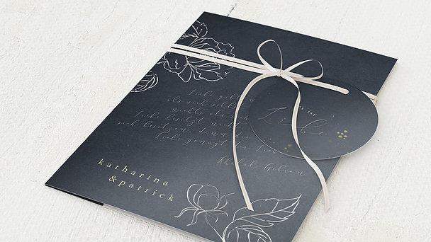 Hochzeitseinladung - Rosenstimmung