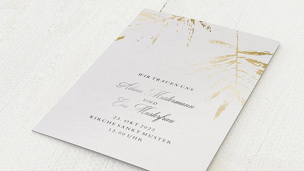 Hochzeitseinladung - Palmenwerk