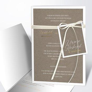 Hochzeitseinladung - Titelblatt