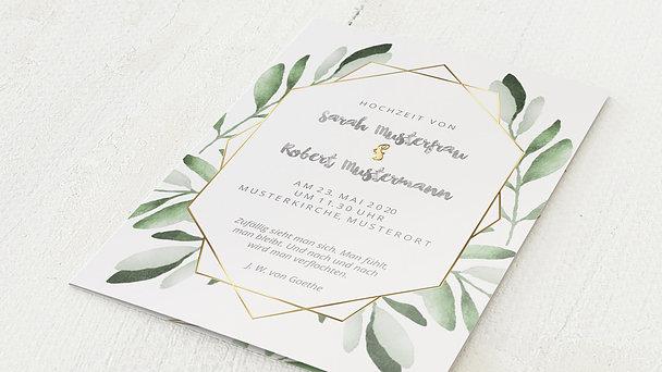 Hochzeitseinladung - Edles Grün