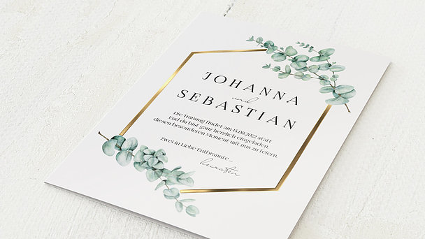 Hochzeitseinladung - Eucaliptus love