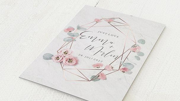Hochzeitseinladung - Pastellblüten