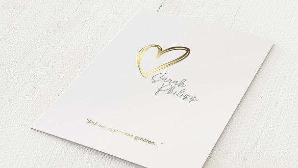 Hochzeitseinladung - Herz über Kopf