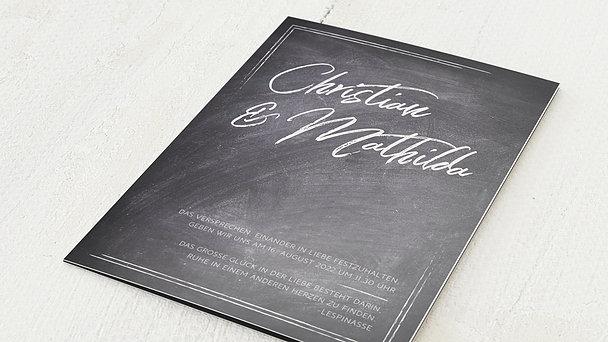 Hochzeitseinladung - Tafelglanz