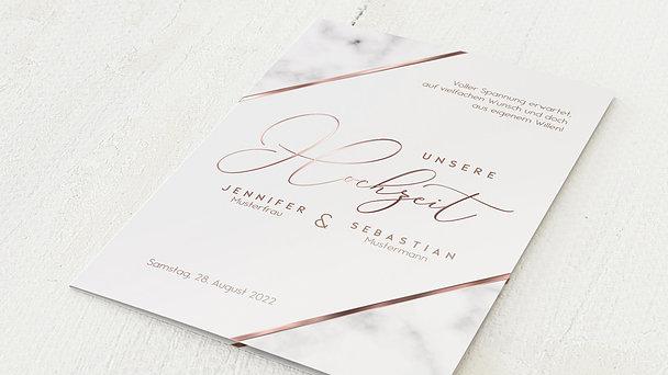 Hochzeitseinladung - Marbled corners