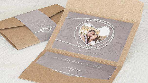 Hochzeitseinladung - Starke Verbindung