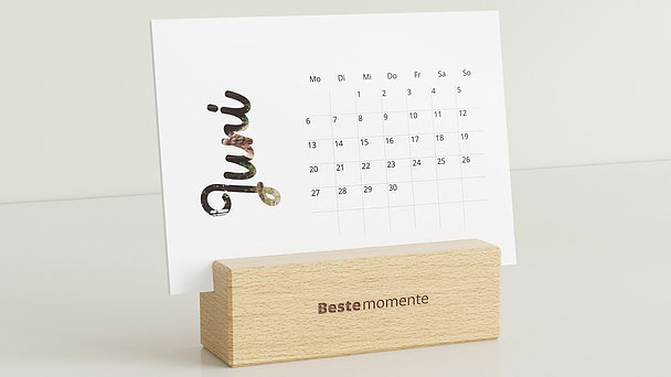 Fotokalender - Monatsglück Tischkalender